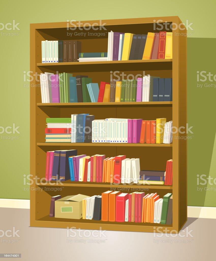 Bookshelf royalty-free stock vector art