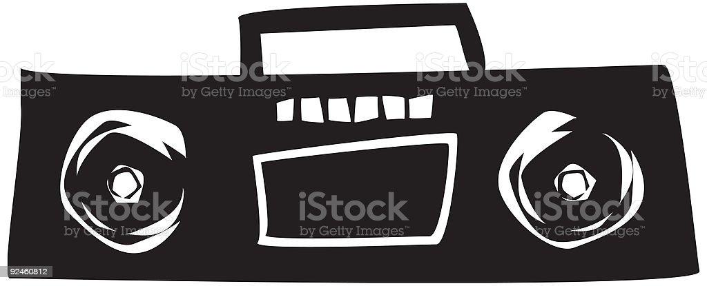 BoomBox royalty-free stock vector art