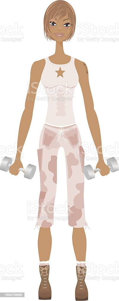 Boot Camp Chick royalty-free boot camp chick stock vector art & more images of adult