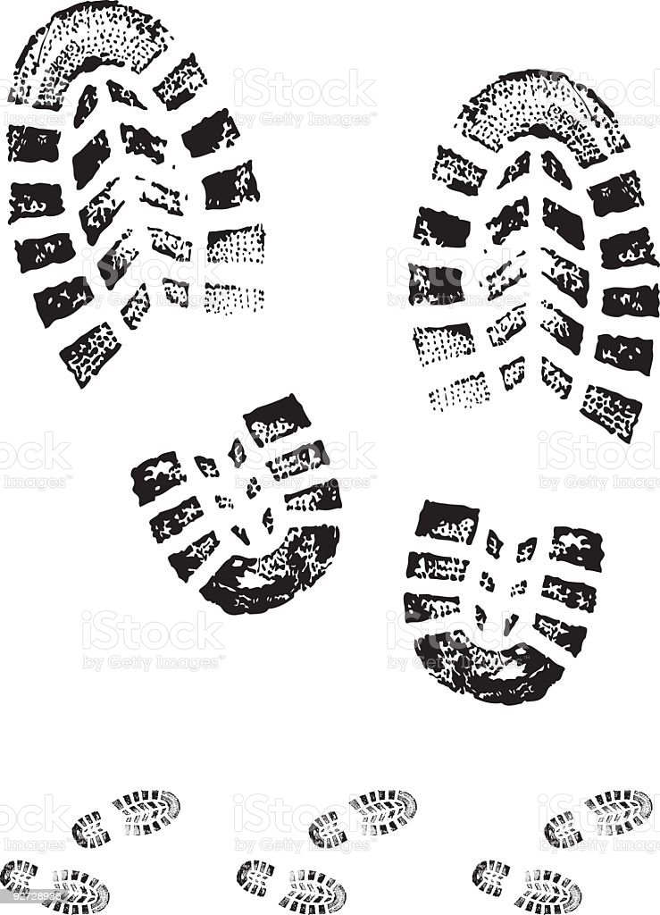 Boot Print Stock Vector Art & More Images of Boot 92728936 ...