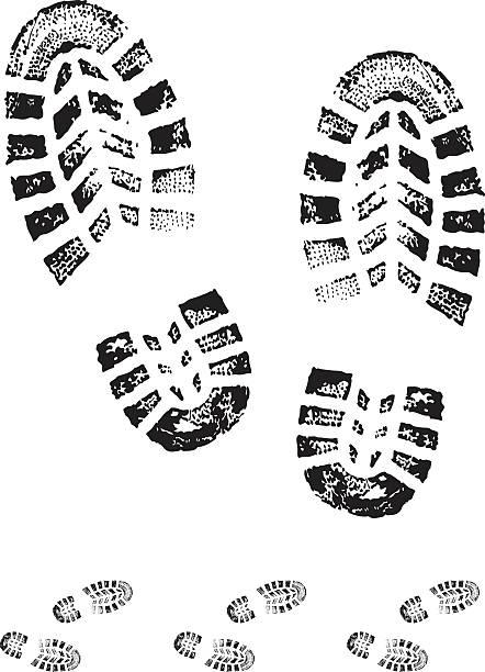 ботинки с принтом - оттиск stock illustrations