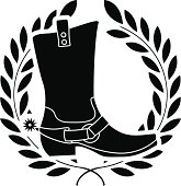 boot with spurs