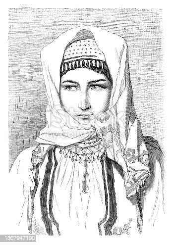 istock Bosnia young woman in traditional clothing 1870 1307947190
