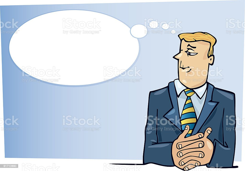 boss thinking royalty-free stock vector art