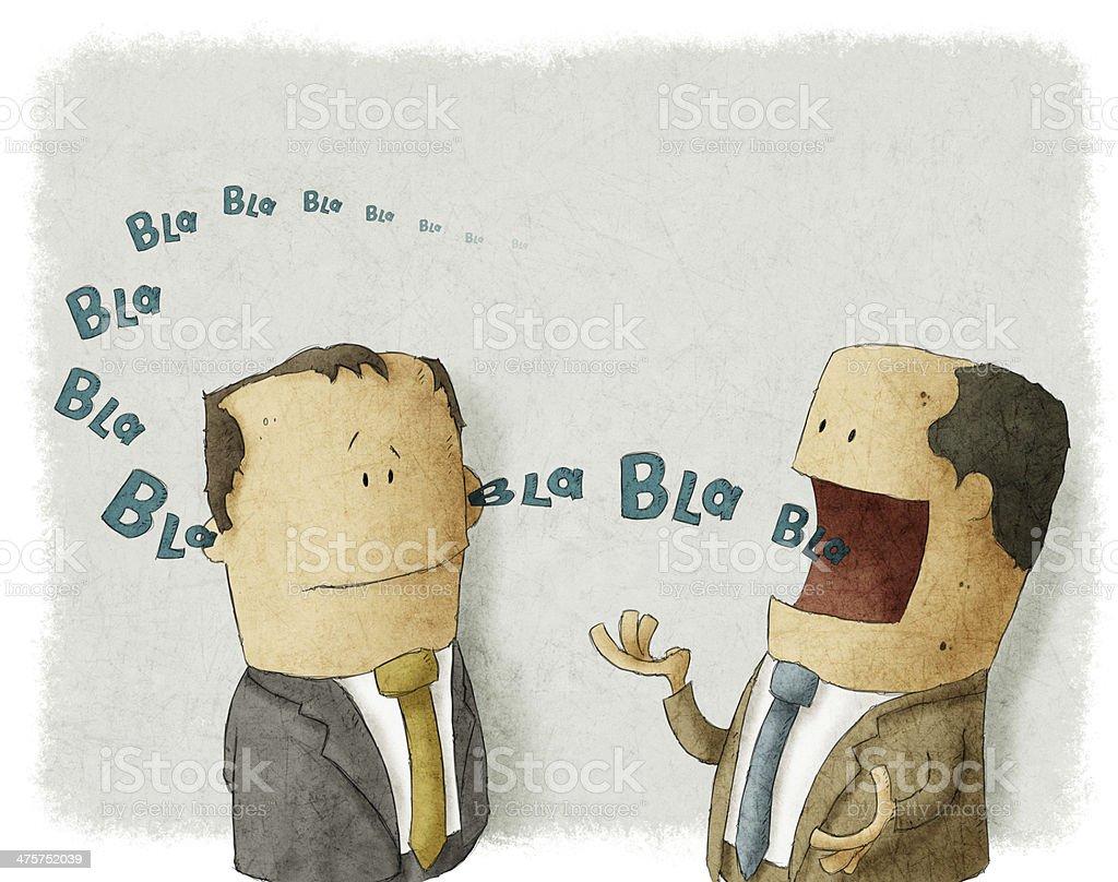 Boss with employee vector art illustration