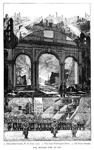 Boston fire 1872 Massachusetts USA