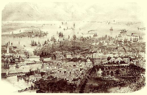 Illustration of a Boston, Massachusetts