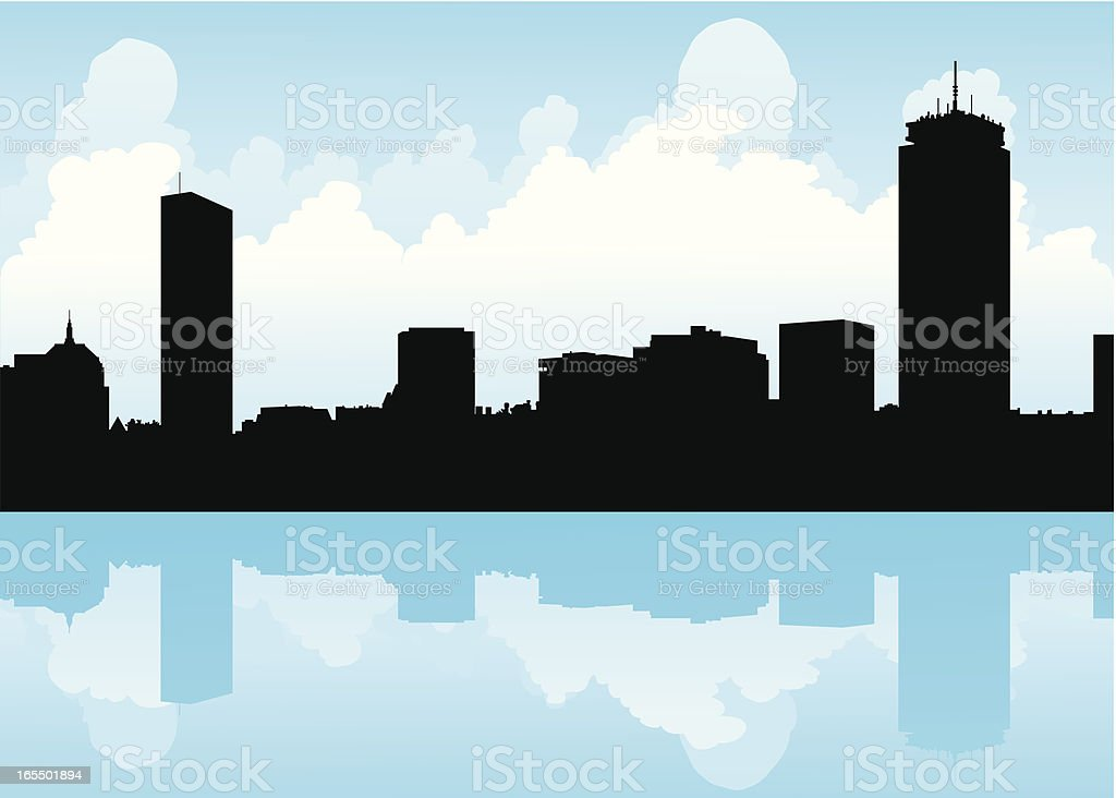 Boston Skyline royalty-free boston skyline stock vector art & more images of backgrounds