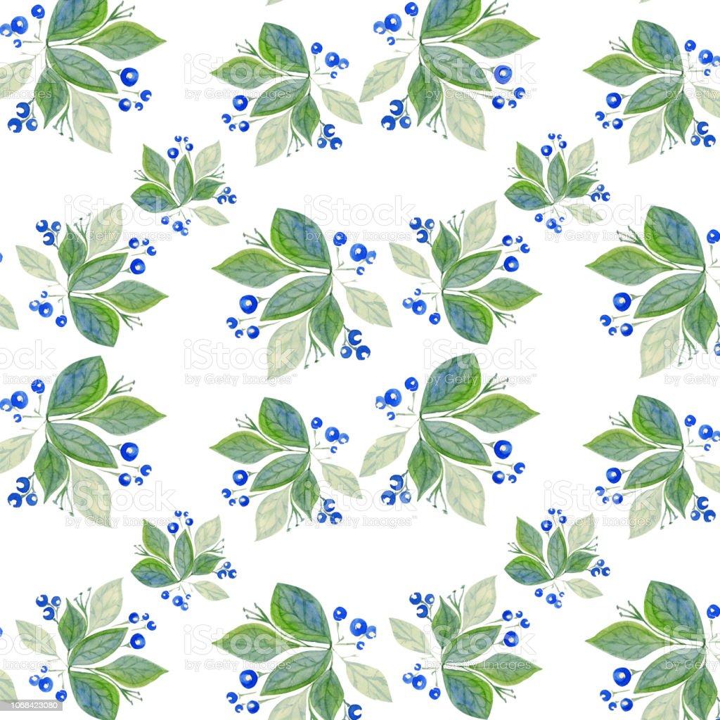 Patrón de botánica - ilustración de arte vectorial