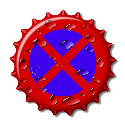 Bottle Cap like road traffic sign No Stopping
