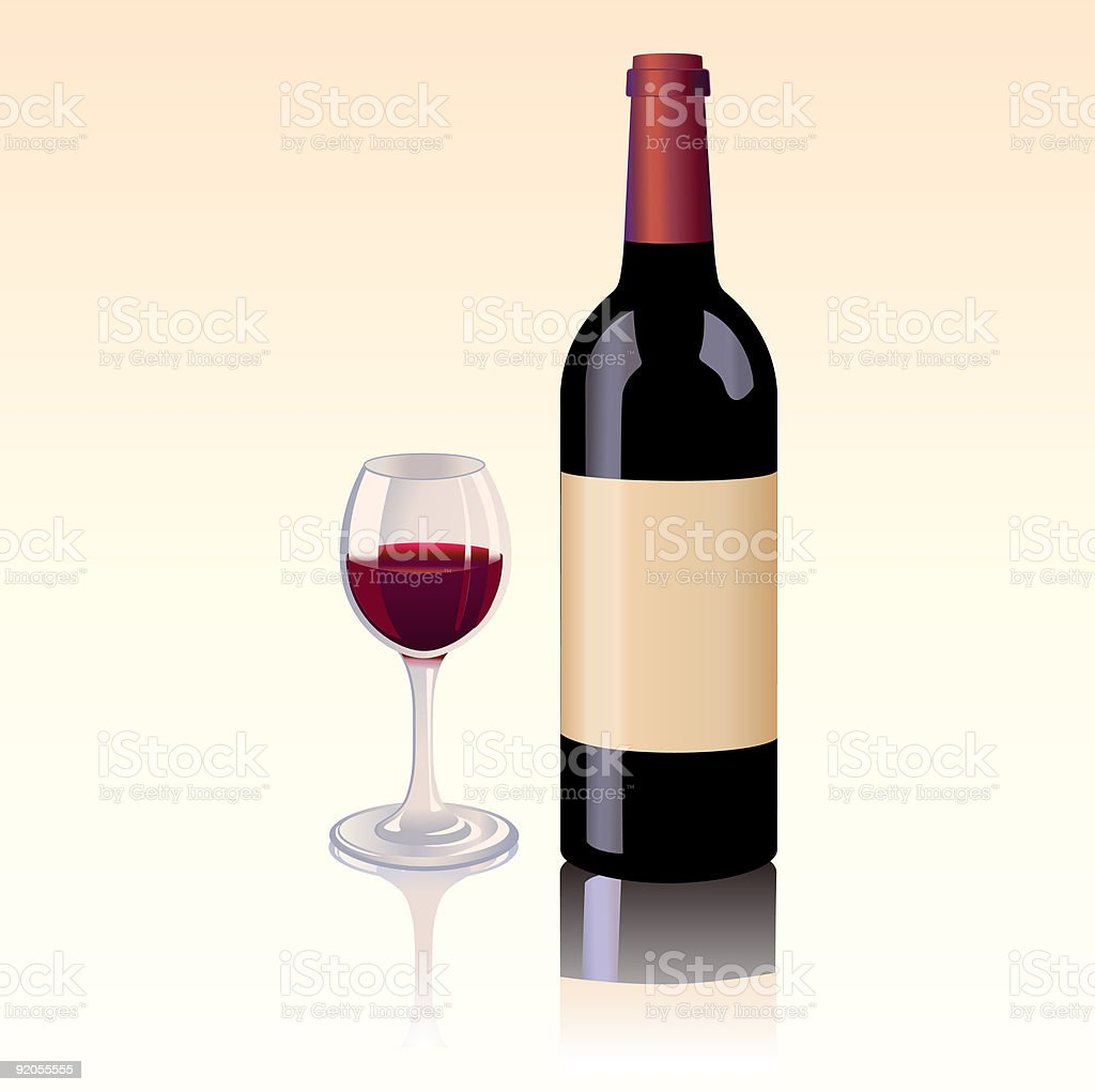 bottle of red wine royalty-free bottle of red wine stock vector art & more images of alcohol