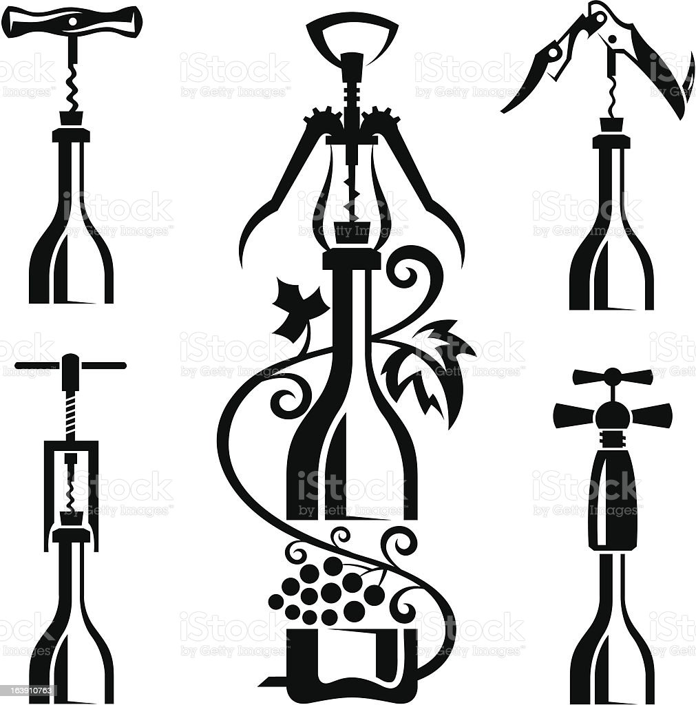 bottles collection royalty-free stock vector art
