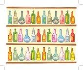 Bottles. eps. 10. Transparencies used.