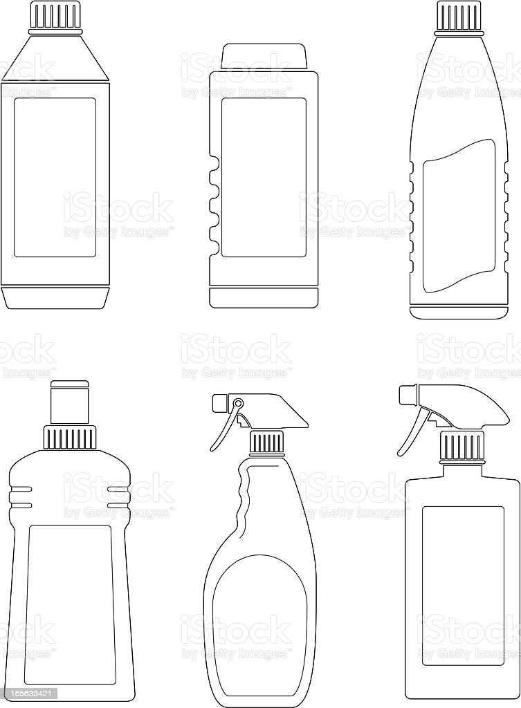 Bottles two royalty-free stock vector art