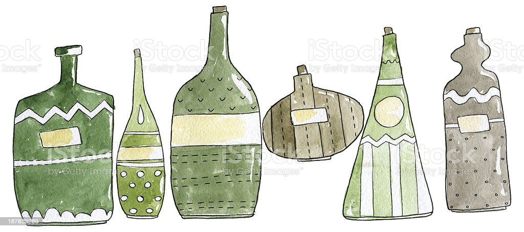 Bottles Watercolor Set royalty-free bottles watercolor set stock vector art & more images of alcohol