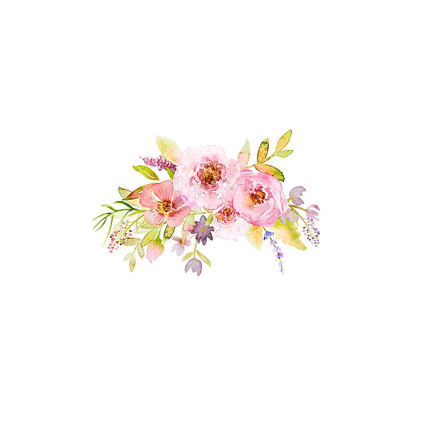 Royalty free flower clip art vector images illustrations istock bouqet of roses and meadow flowers hand drawn watercolor flowers vector art illustration mightylinksfo