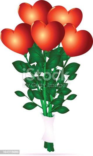 istock Bouquet di cuori 164318686