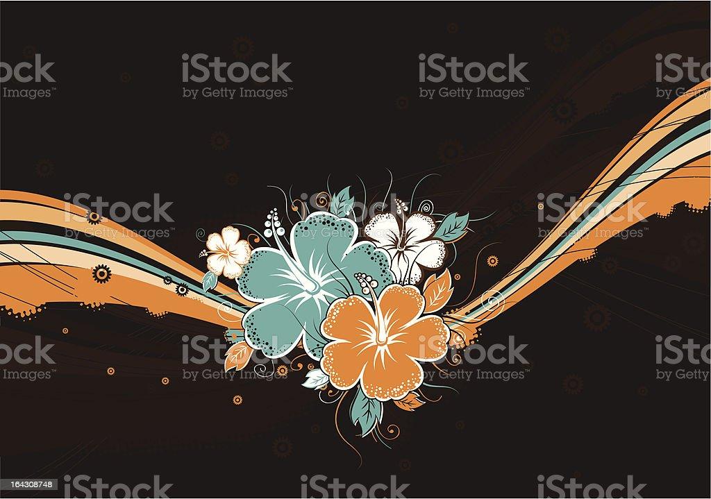 bouquet of hibiscus royalty-free stock vector art