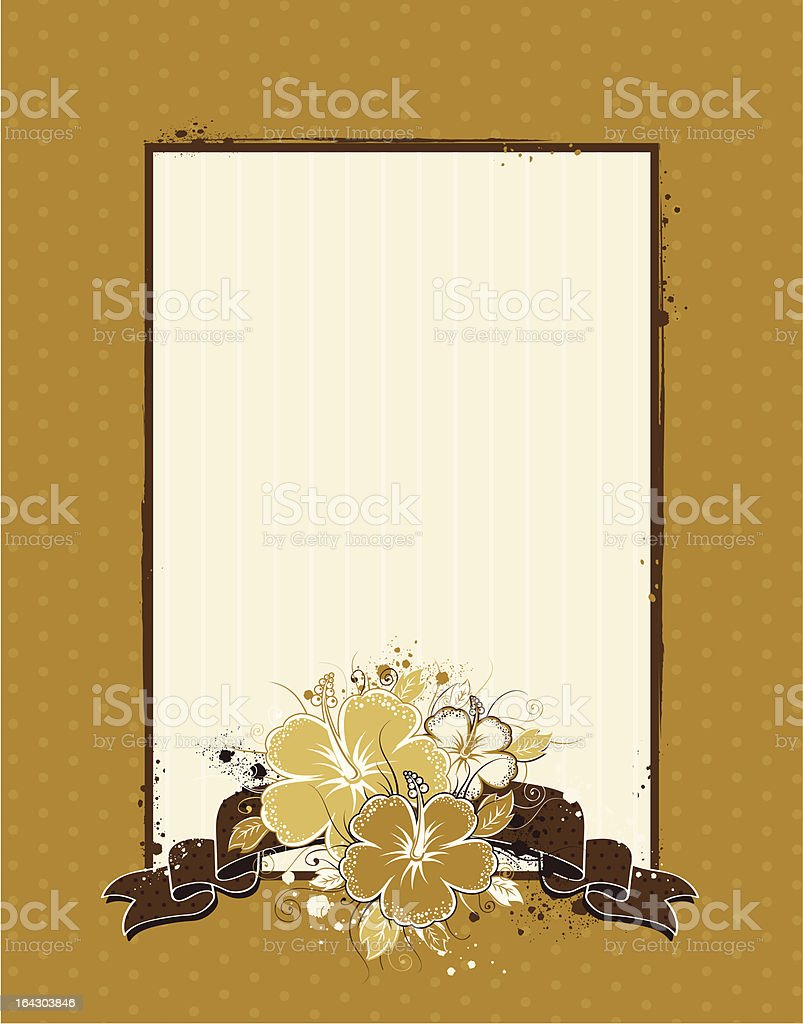 bouquet of hibiscus on grunge beige background royalty-free bouquet of hibiscus on grunge beige background stock vector art & more images of abstract