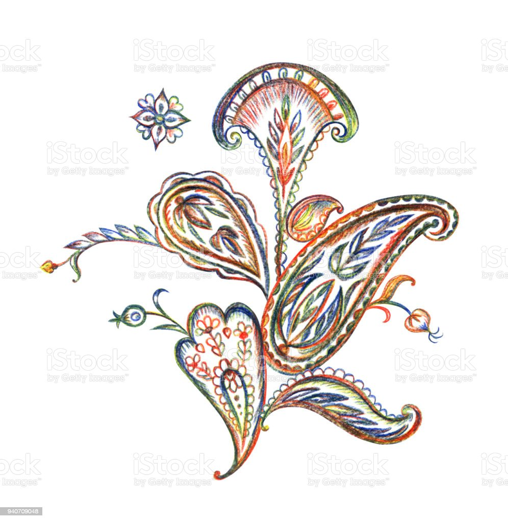 Bouquet of paisley pattern drawing stock vector art more images of bouquet of paisley pattern drawing royalty free bouquet of paisley pattern drawing stock vector izmirmasajfo
