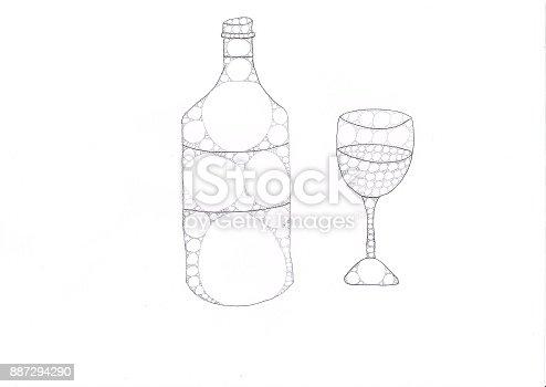 istock Bouteille et verre 887294290
