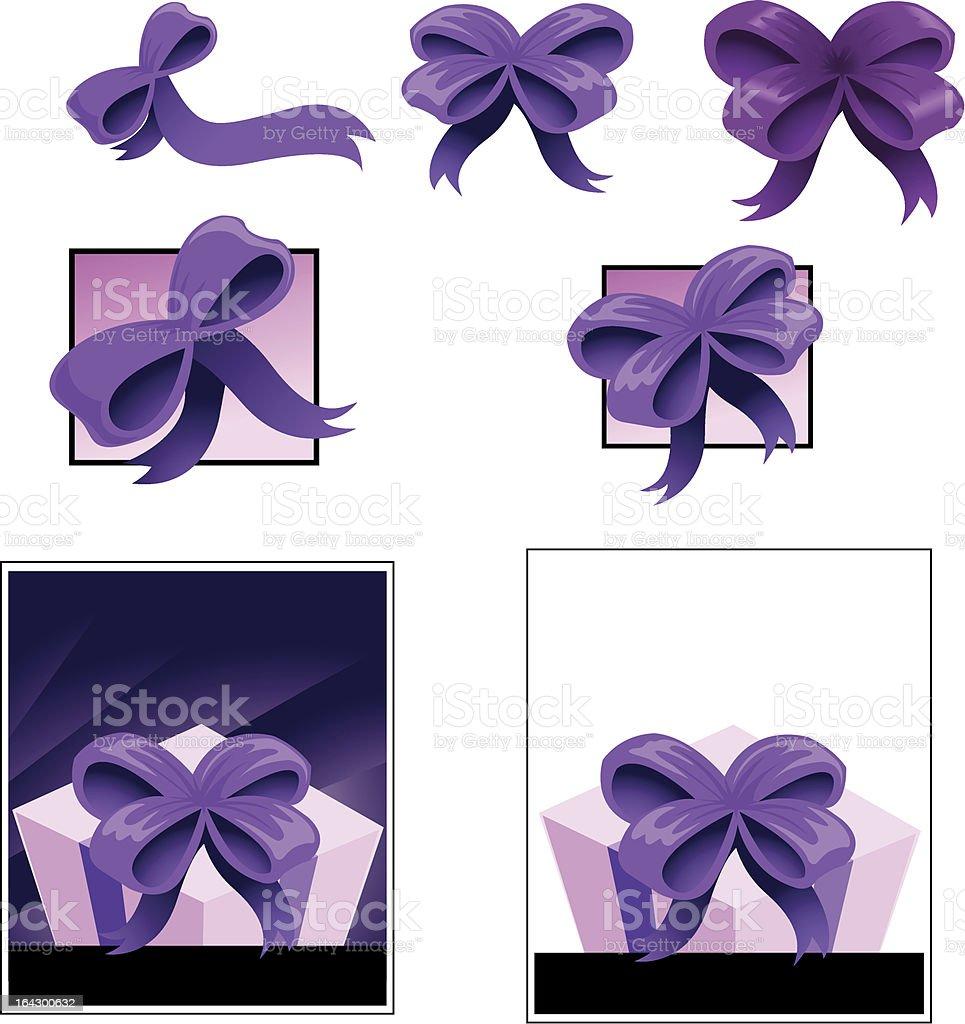 bow and box royalty-free stock vector art