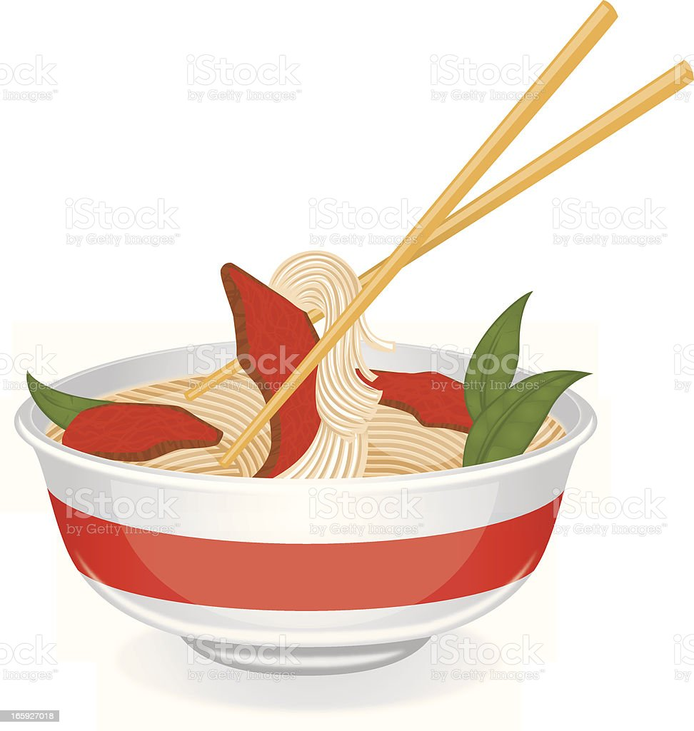 bowl of pho royalty-free stock vector art
