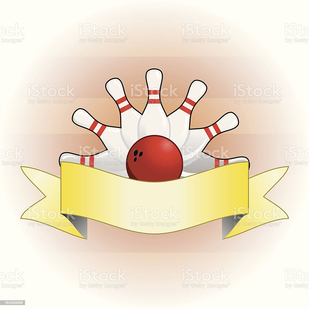 bowling background royalty-free stock vector art