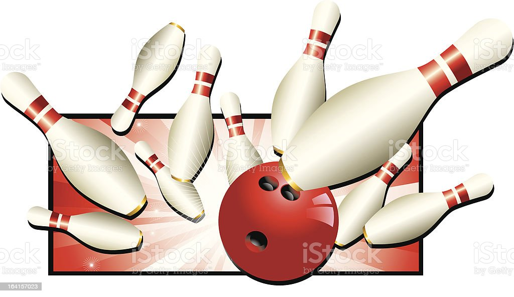 Bowling Strike royalty-free bowling strike stock vector art & more images of backgrounds