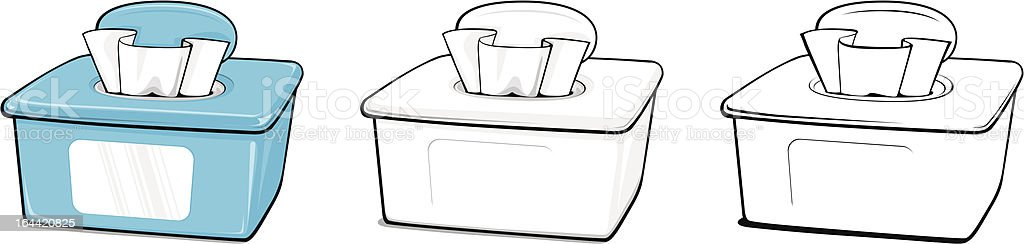 Box of Wipes vector art illustration