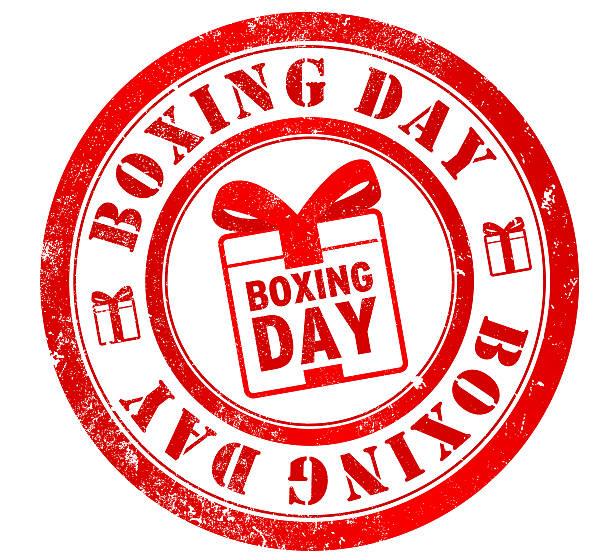 Sello de boxeo día - ilustración de arte vectorial