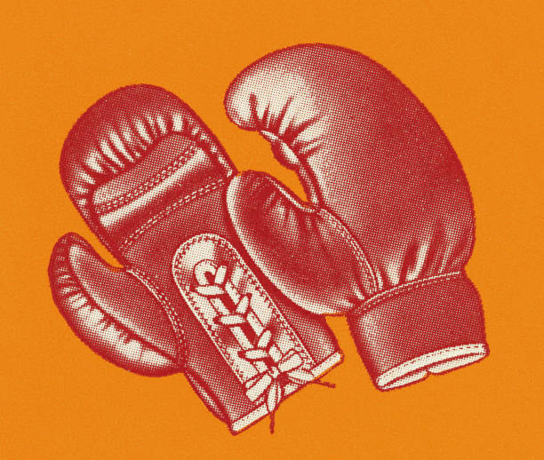 boxing gloves - boxing gloves stock illustrations, clip art, cartoons, & icons