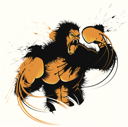 boxing gorilla