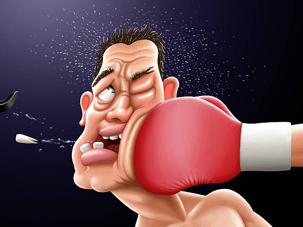 stockillustraties, clipart, cartoons en iconen met boxing - knock out