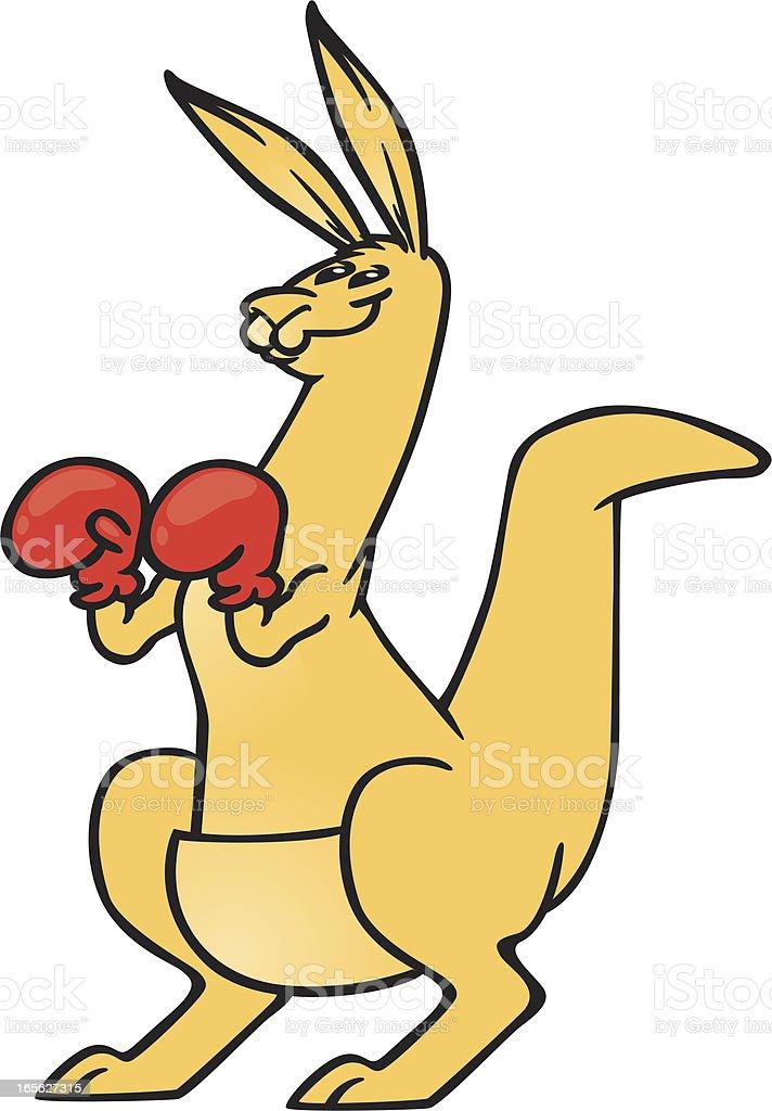 boxing kangaroo vector art illustration