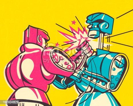 istock Boxing Robots 152404829