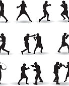 Boxing Silhouette Illustration