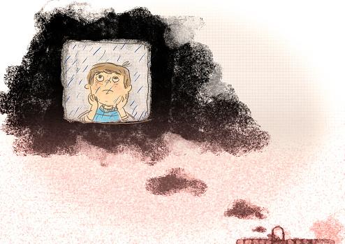 boy in the clouds