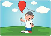 Boy with a balloon