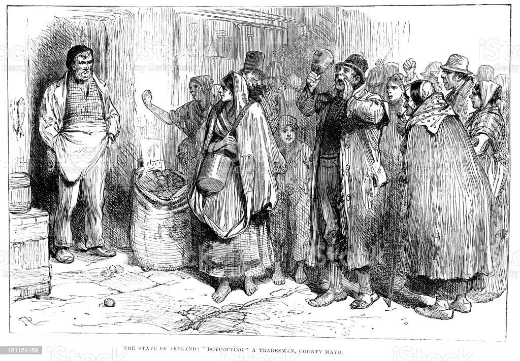 Boycotting a Tradesman royalty-free boycotting a tradesman stock vector art & more images of 1880-1889