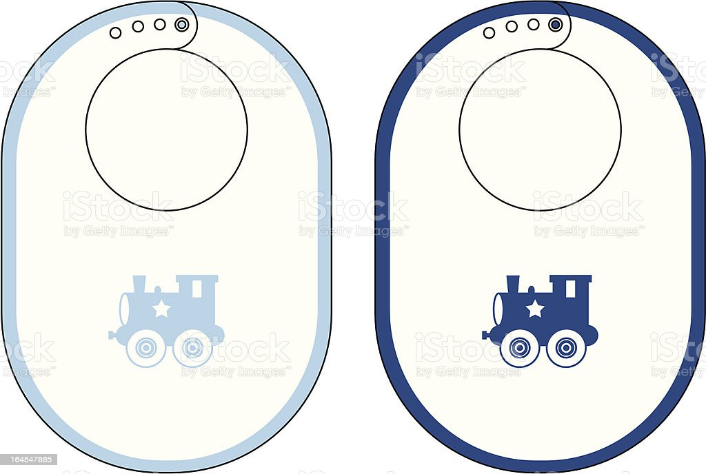 Boys Baby Bib with Toy Train Icon royalty-free boys baby bib with toy train icon stock vector art & more images of babies only