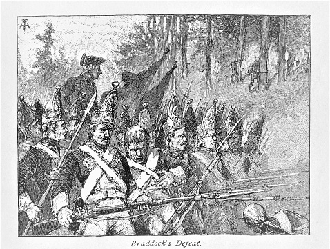 Braddock Troops Defeated, French-Indian War 1755