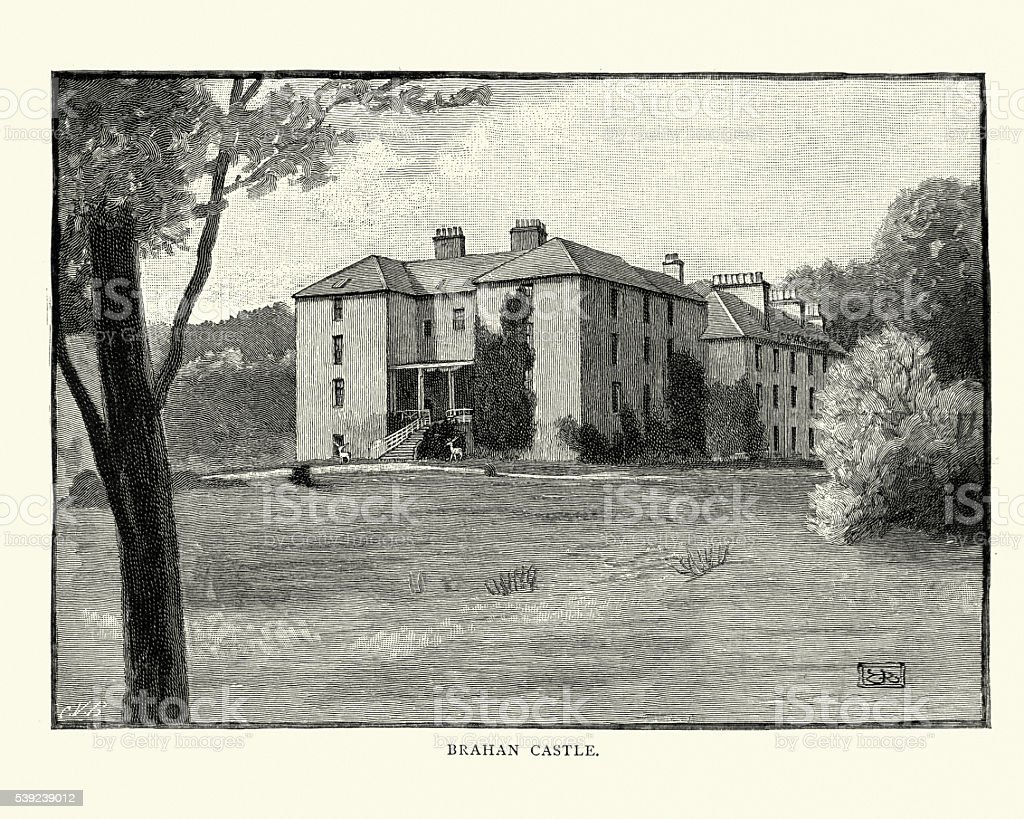 Brahan Castle, Easter Ross, Scotland, 1892 royalty-free brahan castle easter ross scotland 1892 stock vector art & more images of 1890-1899