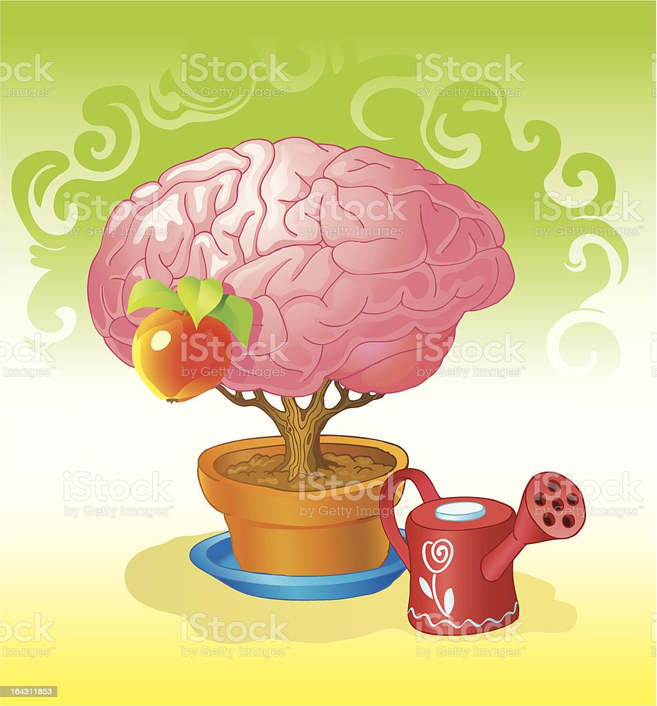 brain a tree royalty-free brain a tree stock vector art & more images of apple - fruit