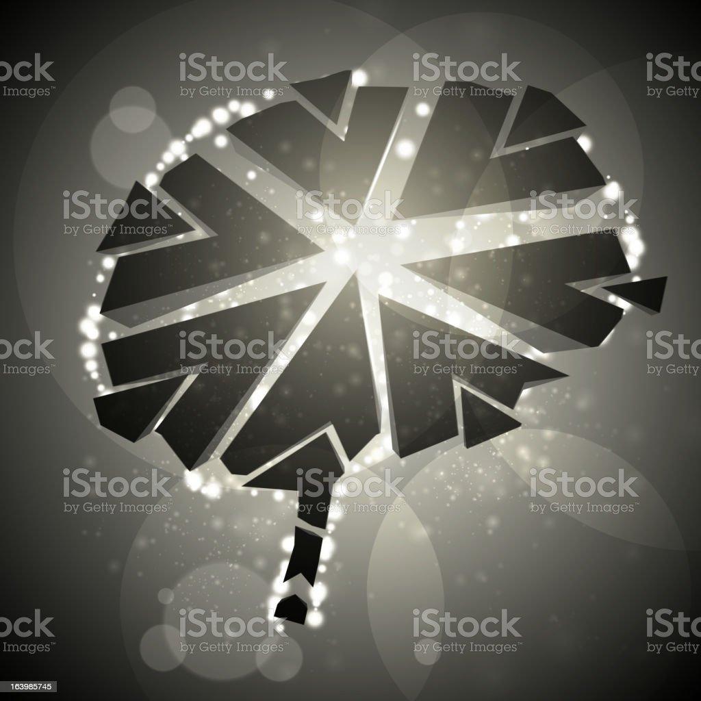 Brain crushing royalty-free stock vector art