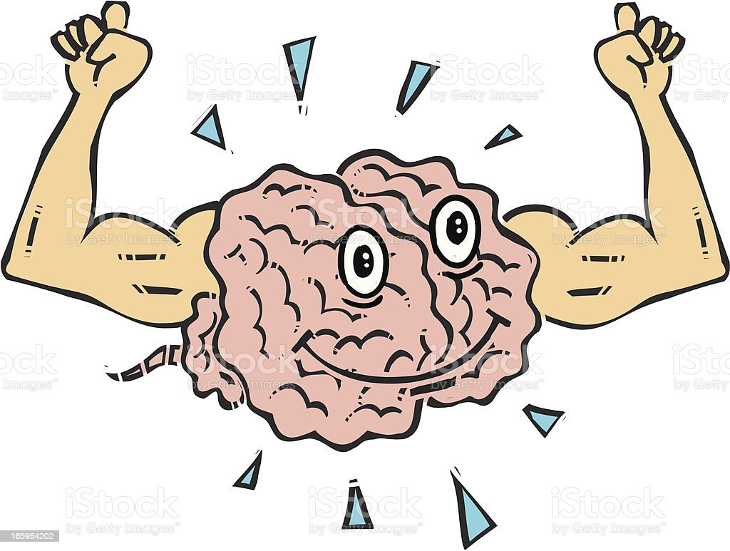 Brain Flexing royalty-free stock vector art