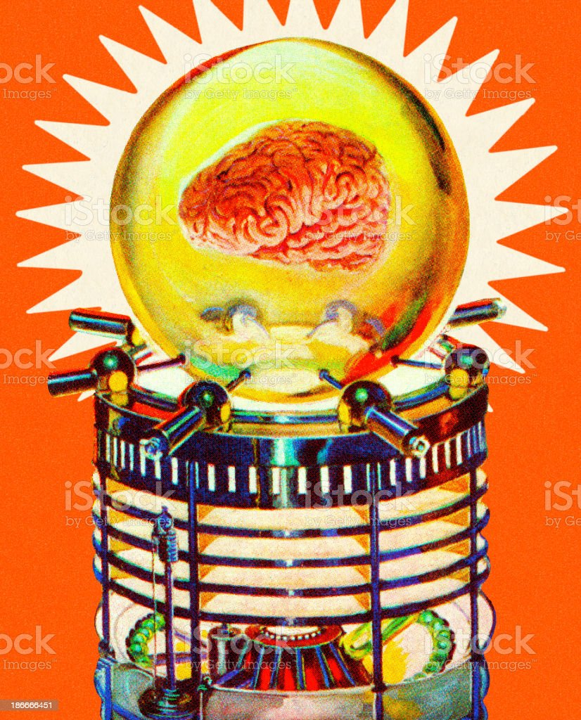 Brain in a Bubble royalty-free stock vector art
