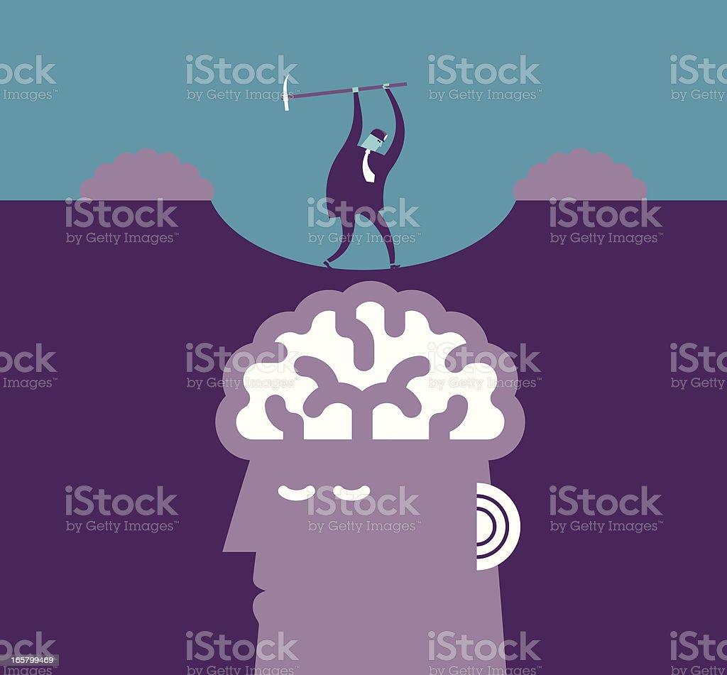 Brain Mining Concept vector art illustration