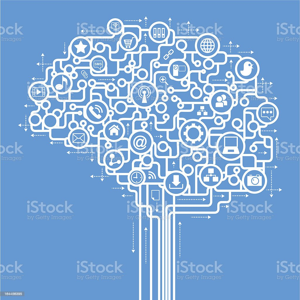brain social media royalty-free brain social media stock vector art & more images of abstract