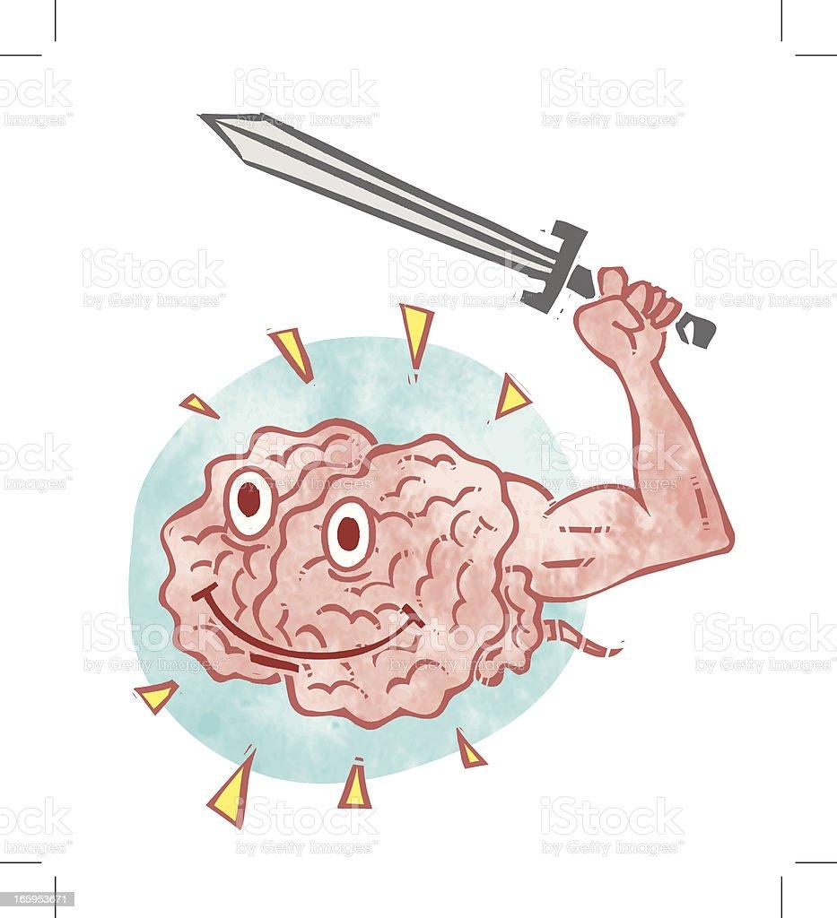 Brain Warrior royalty-free stock vector art